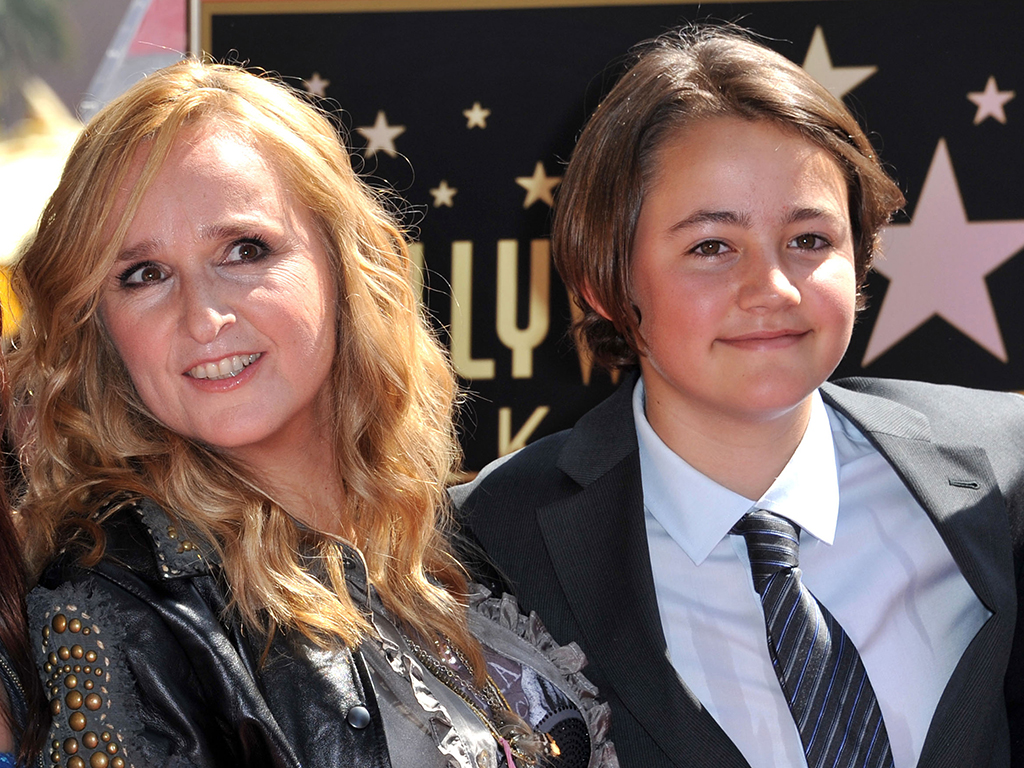 Singer Melissa Etheridge posing with her son Beckett during her Walk of Fame ceremony held at the Hard Rock cafe in Hollywood, Calif., on Sept. 27, 2011.