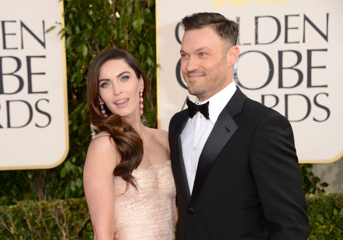 Actors Megan Fox and Brian Austin Green arrive at the 70th annual Golden Globe Awards held at The Beverly Hilton Hotel on Jan. 13, 2013 in Beverly Hills, Calif.