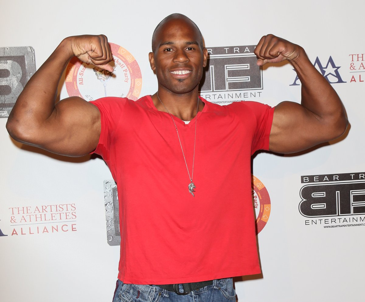 Professional wrestler Shad Gaspard attends the eighth annual BTE All-Star Celebrity kickoff party at the Playboy Mansion on July 15, 2013 in Beverly Hills, Calif.