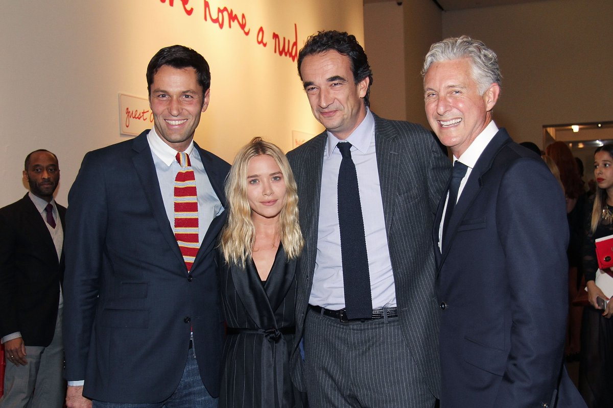 Mary Kate Olsen (2nd from L), Oliver Sarkozy and David Kratz attend the 2013 'Take Home A Nude' Benefit Art Auction And Party at Sotheby's on October 8, 2013 in New York City.