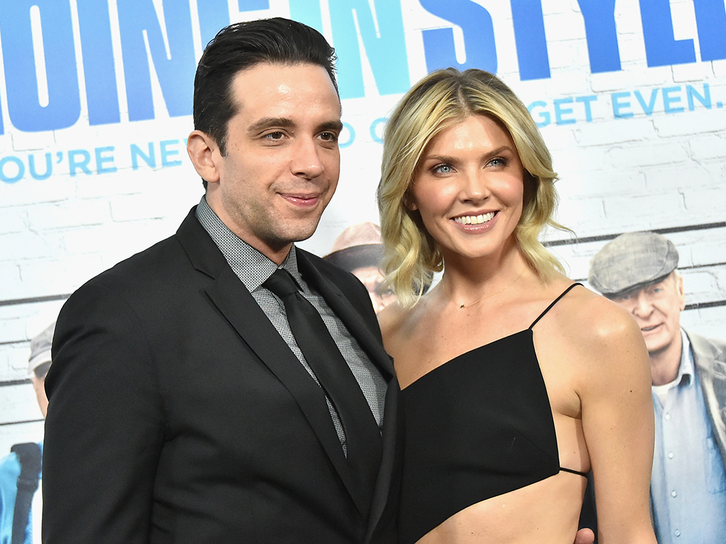 Nick Cordero and Amanda Kloots attend the 'Going in Style' New York premiere at SVA Theatre on March 30, 2017 in New York City.
