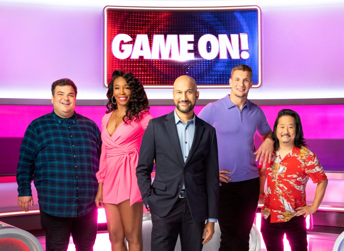 Pictured (L-R): Ian Karmel, Venus Williams, Keegan-Michael Key, Rob Gronkowski and Bobby Lee.