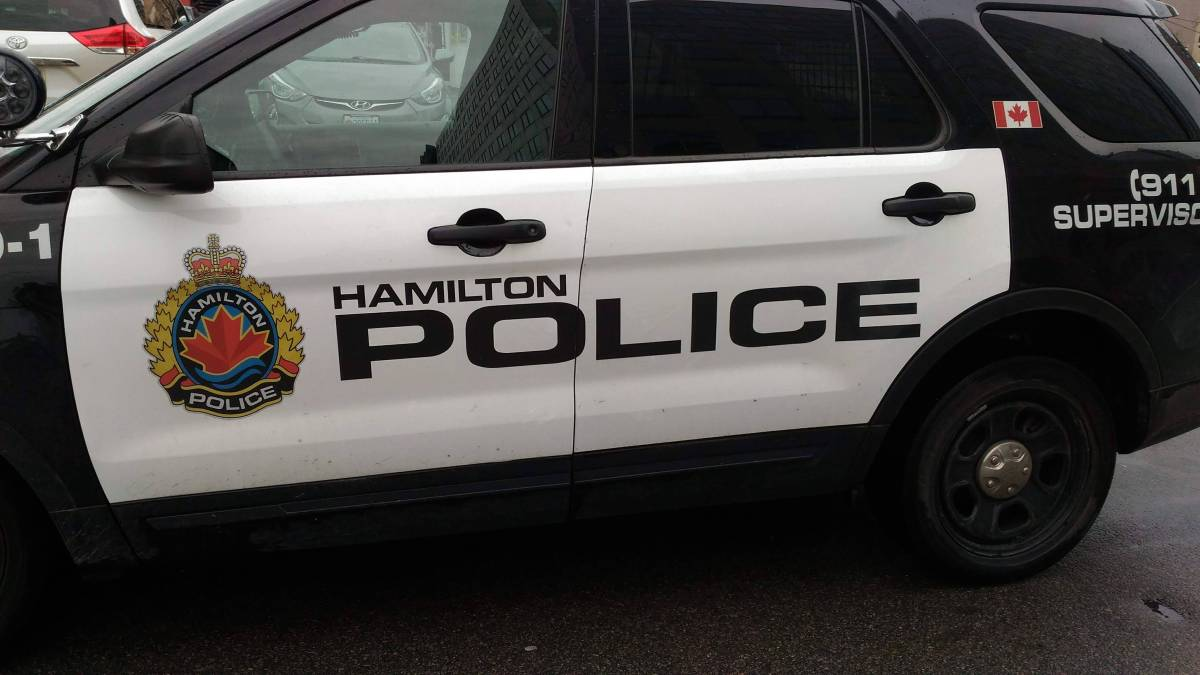 Hamilton police are seeking a suspect following a crash on the Claremont Access.