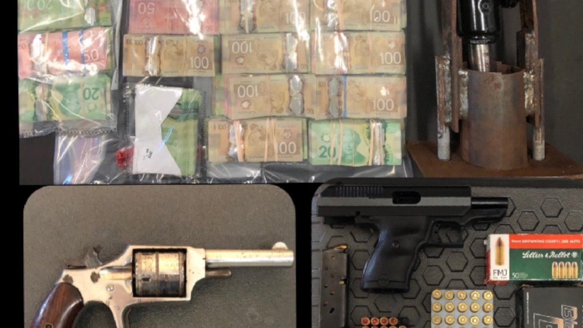 Police say a duffel bag with close to $170,000 was seized from a storage locker in Burlington last Thursday during a drug-related investigation.