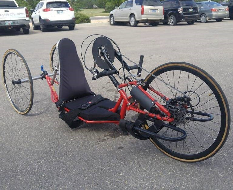 Winnipeg police are asking for the public's help tracking down a handcycle stolen from a downtown apartment block earlier this month.
