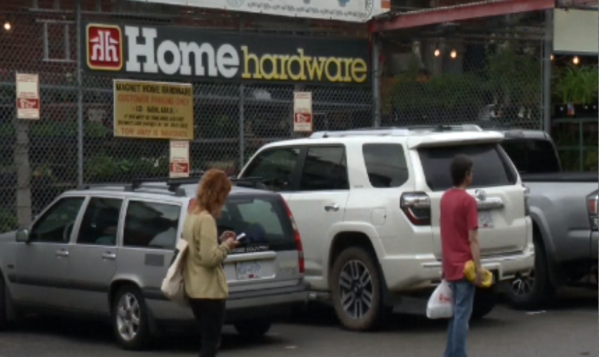 Mira Oreck was in line at this Home Hardware when she says a woman began berating an Asian man.