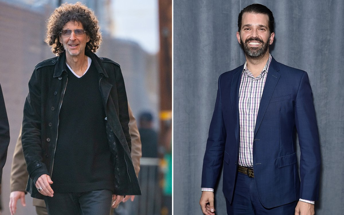 (L-R): Howard Stern and Donald Trump Jr.