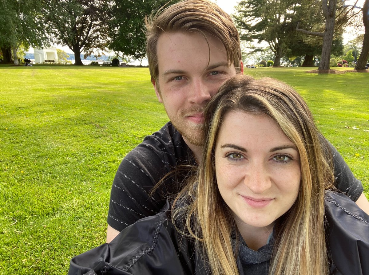 Samantha Balenzano and Ian Foster at Peace Arch Park on Saturday, May 23, 2020.