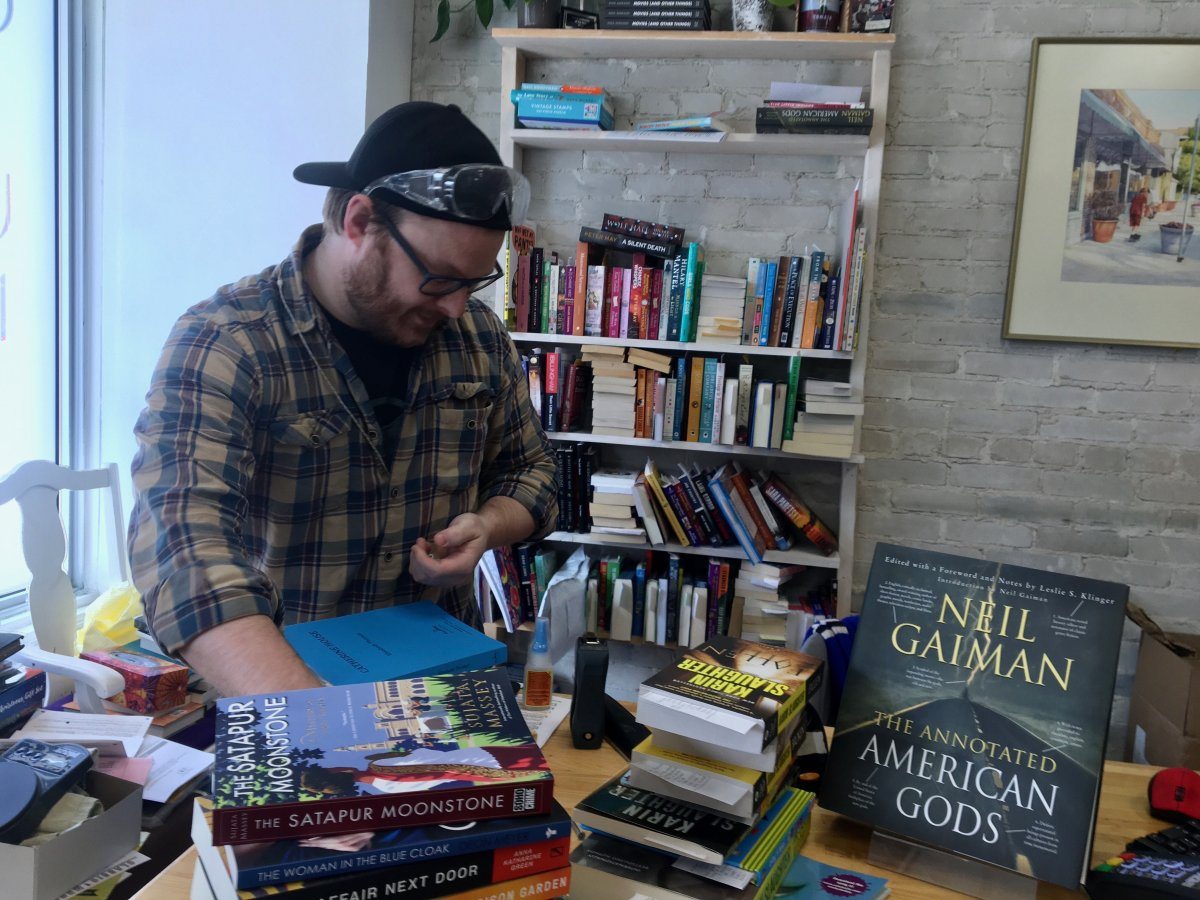 Michael Bumsted prepares for Whodunit Books to reopen, with significant public health restrictions.