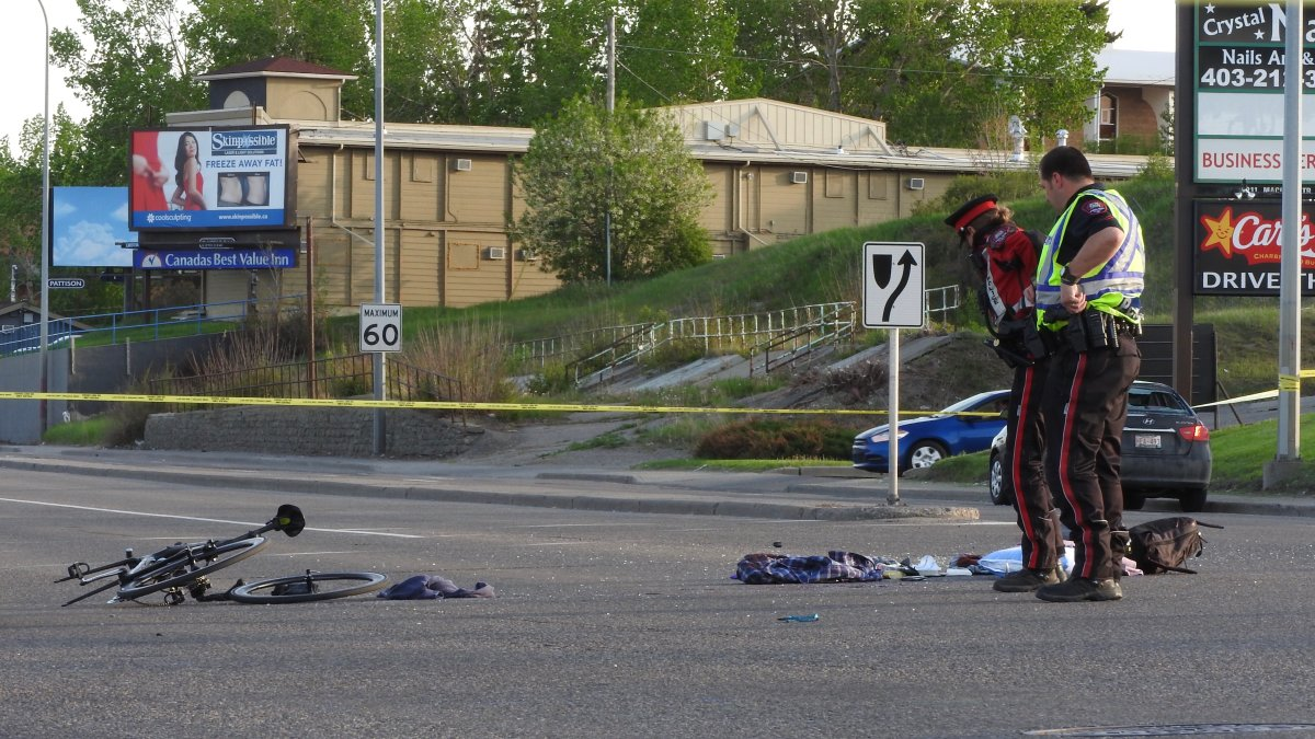Calgary officers responded to a crash on Macleod Trail at 50 Avenue S.W. on Friday, May 29, 2020.