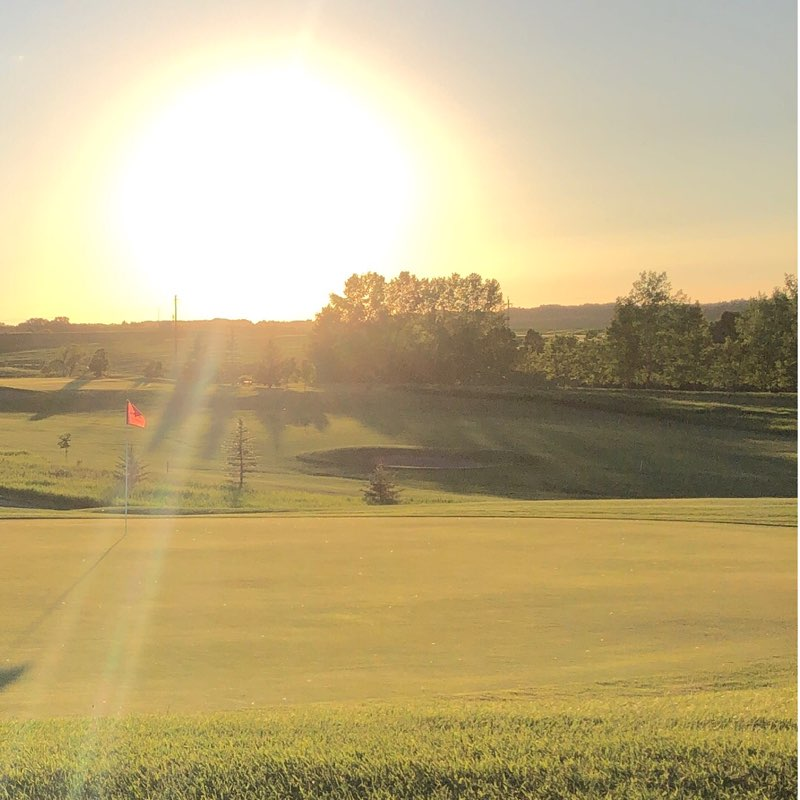 Minnedosa Golf and Country Club during a cool Manitoba morning.