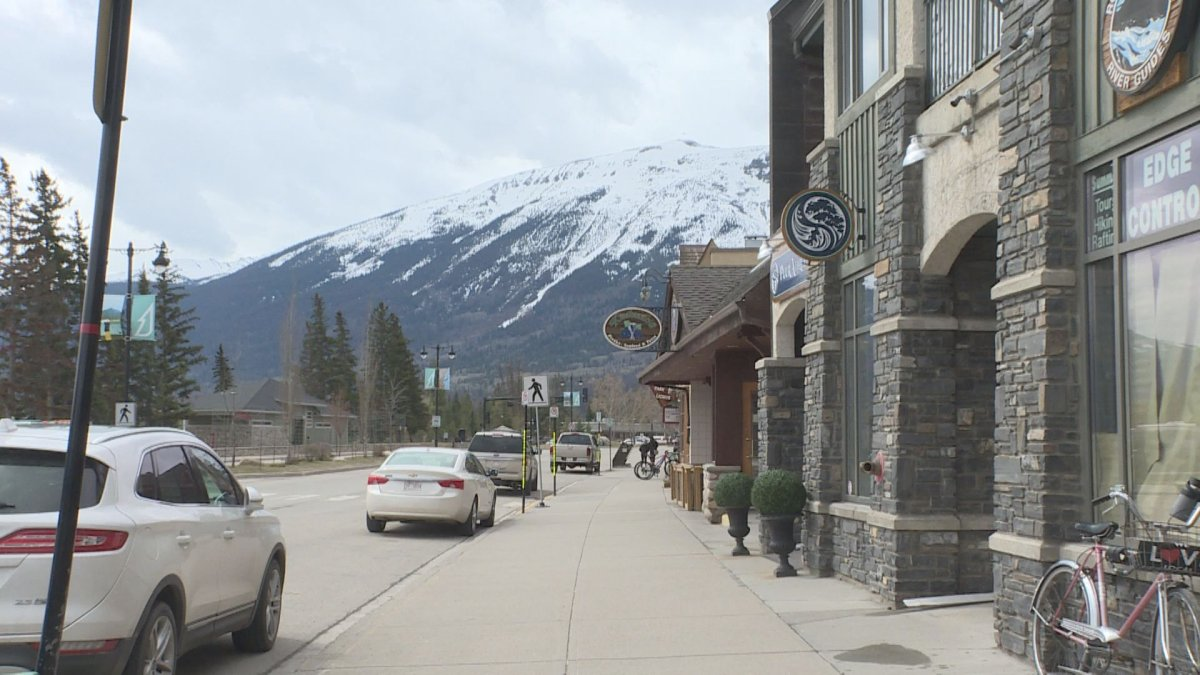 The town of Jasper, Alta., in Jasper National Park on Friday, May 15, 2020.