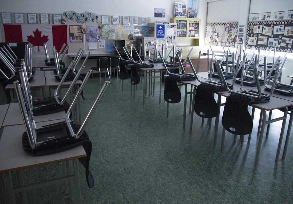 The Alberta government is hoping empty schools will give school divisions a change to get a jump-start on maintenance projects with new funding.