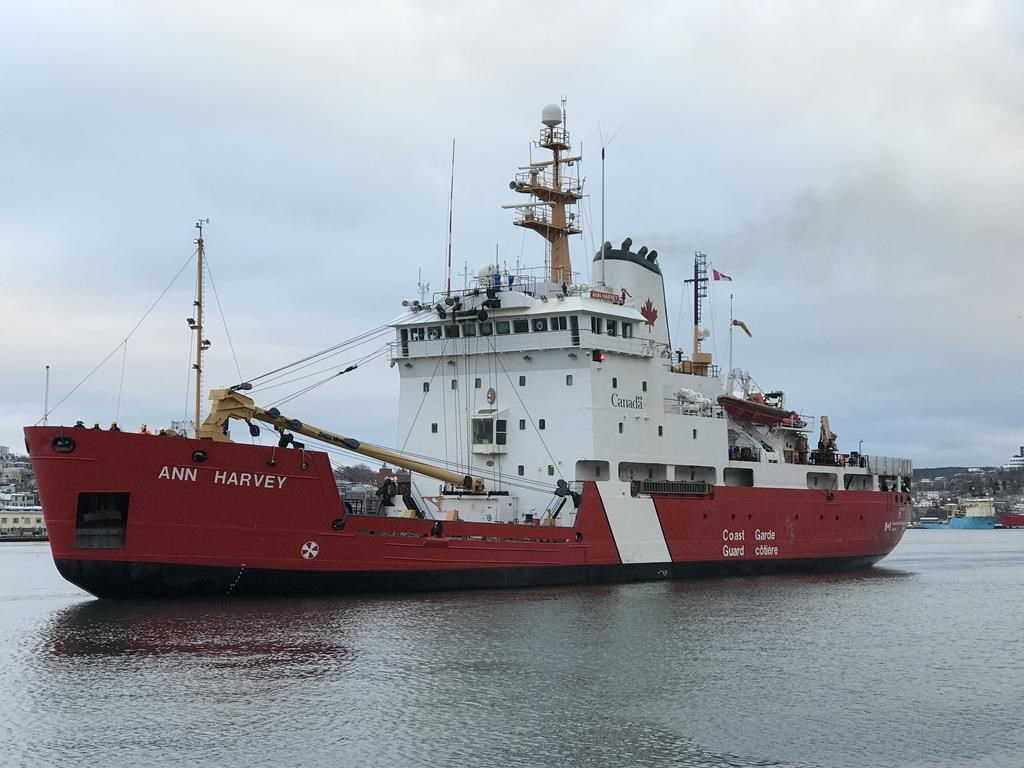 The CCGS Ann Harvey is seen in this undated handout photo.