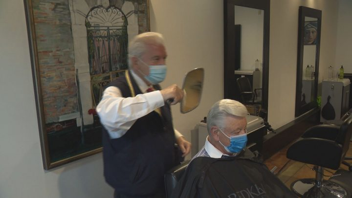 Vancouver Barber Has Cut Hair For 71 Years Then Came Covid 19 Now He S Back On The Job Bc Globalnews Ca