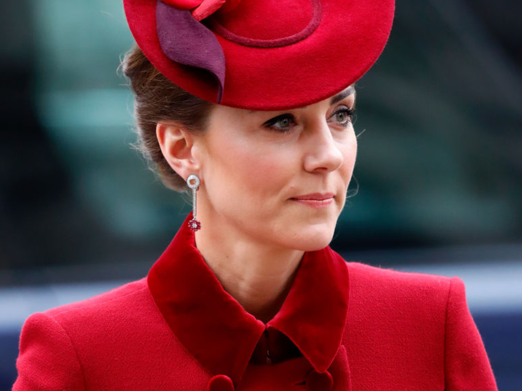 Catherine, Duchess of Cambridge attends the Commonwealth Day service 2020 at Westminster Abbey on March 9, 2020 in London, England.