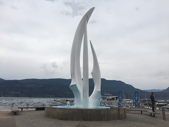 June is ALS awareness month, and landmarks around the province, including the Sails sculpture in Kelowna, will be awash with purple lights on June 1-2 to show support for people living with ALS.
