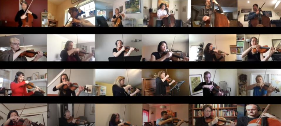 All 40 members of the Kingston Symphony got together to record themselves playing the finale of a show cancelled due to the novel coronavirus.