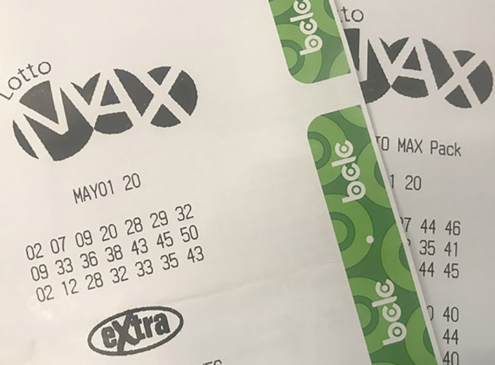 Two Lotto Max tickets for the draw on May 1, 2020. A ticket purchased in Penticton for Friday's draw won $1,052,328 after matching six of seven numbers and the bonus number.