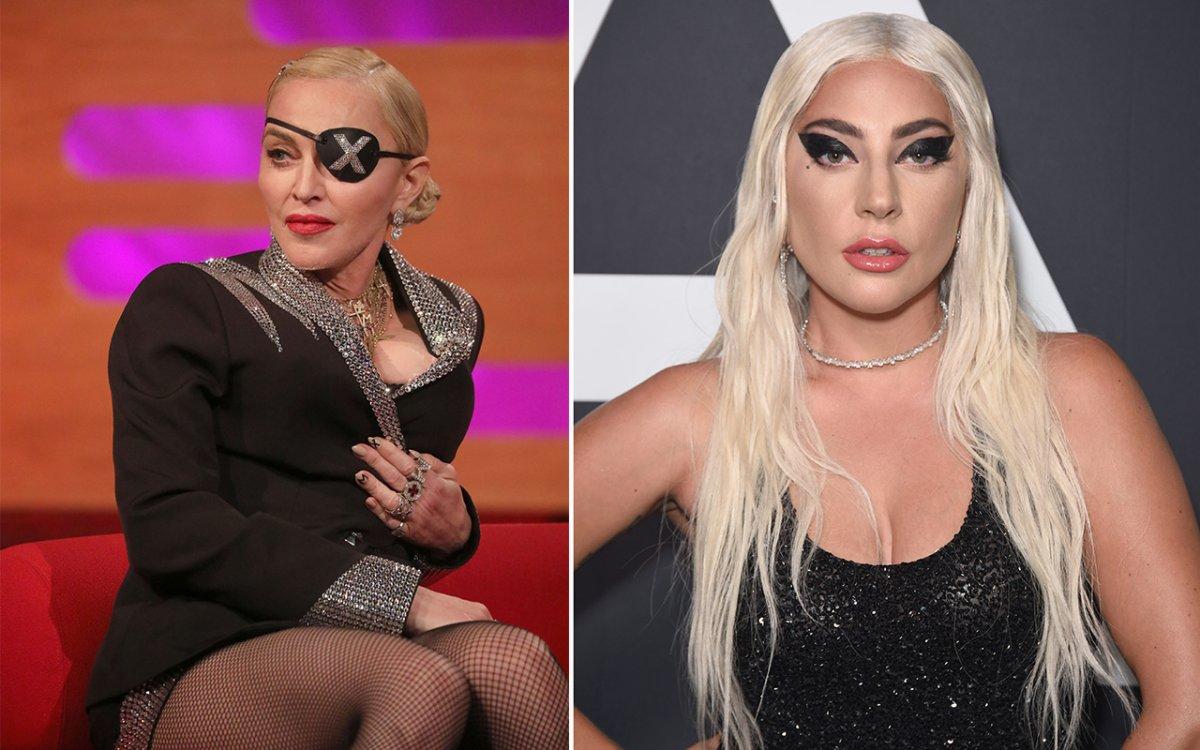 (L-R): Madonna and Lady Gaga.