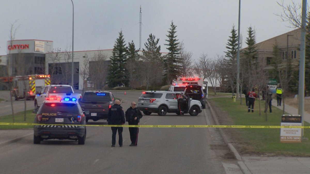 Emergency crews responded to a fatal motorcycle crash in southeast Calgary on Saturday, May 9, 2020.