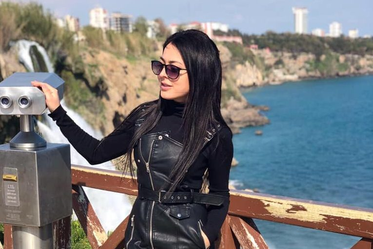 Olesia Suspitsina is shown near the Duden Waterfalls in Antalya, Turkey, in this file photo from her Facebook account.