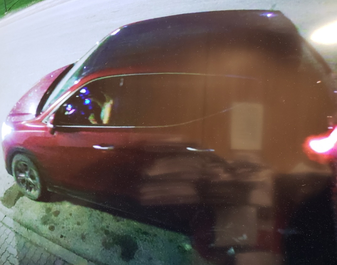 Manitoba RCMP are looking for the driver of this vehicle.