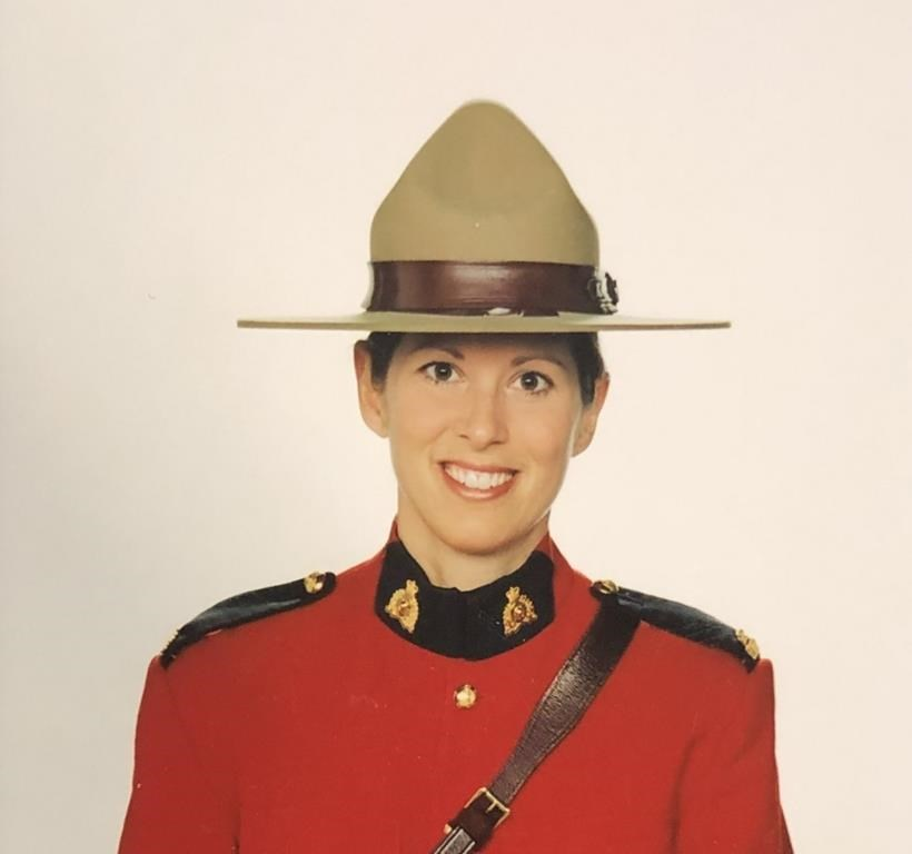 RCMP Const. Heidi Stevenson is shown in an RCMP handout photo. The family of a Nova Scotia RCMP officer killed last month while tracking down a multiple murderer has issued a statement to thank those who reached out to offer them support.