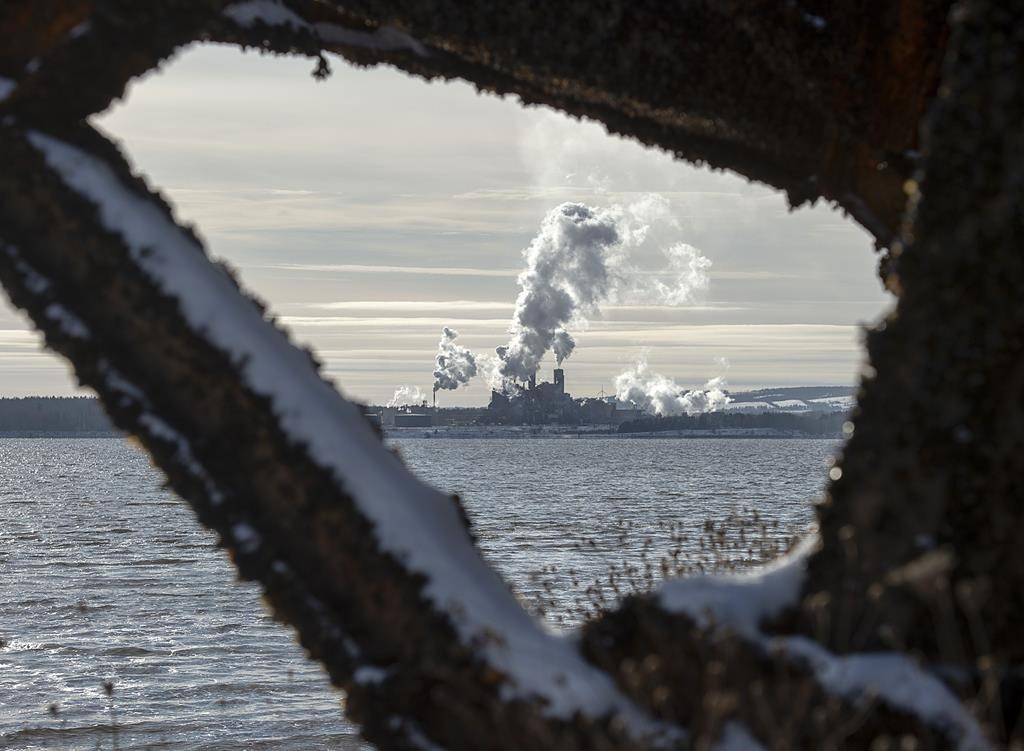 The Northern Pulp mill in Abercrombie Point, N.S., is viewed from Pictou, N.S., Friday, Dec. 13, 2019.