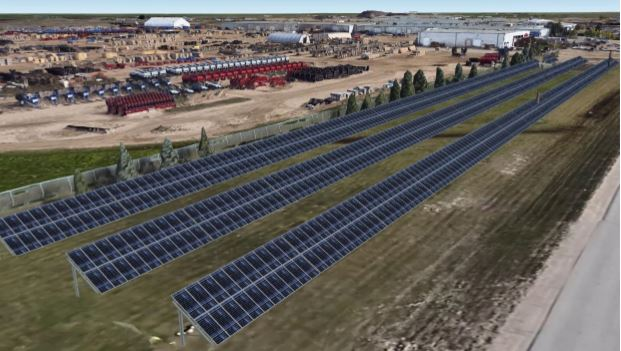 The project would be the SES Coop's largest solar panel array.