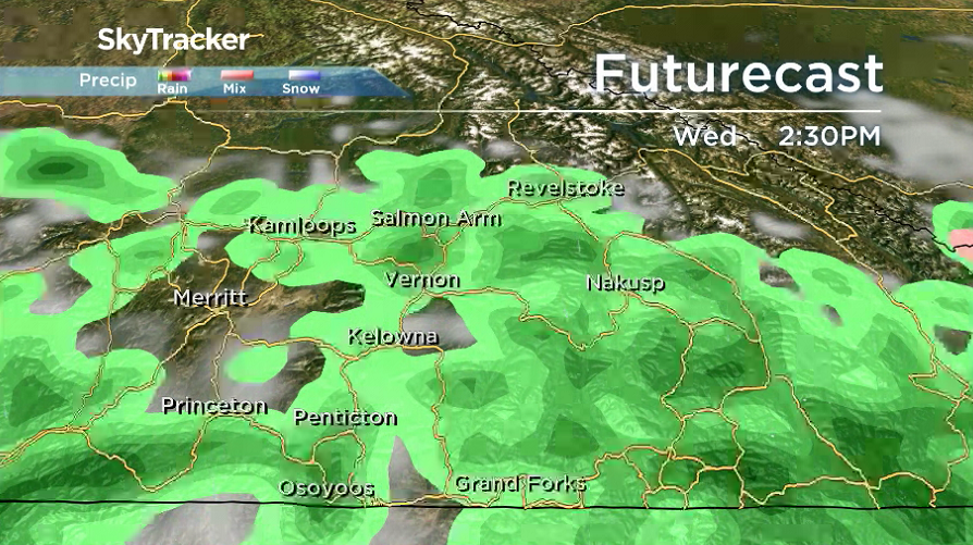 Showers are likely to linger at times into the day on Wednesday.