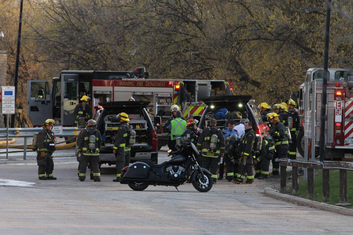 Winnipeg Fire Paramedic Service spent the early part of Saturday evening attending to a fire at St. Boniface Hospital.