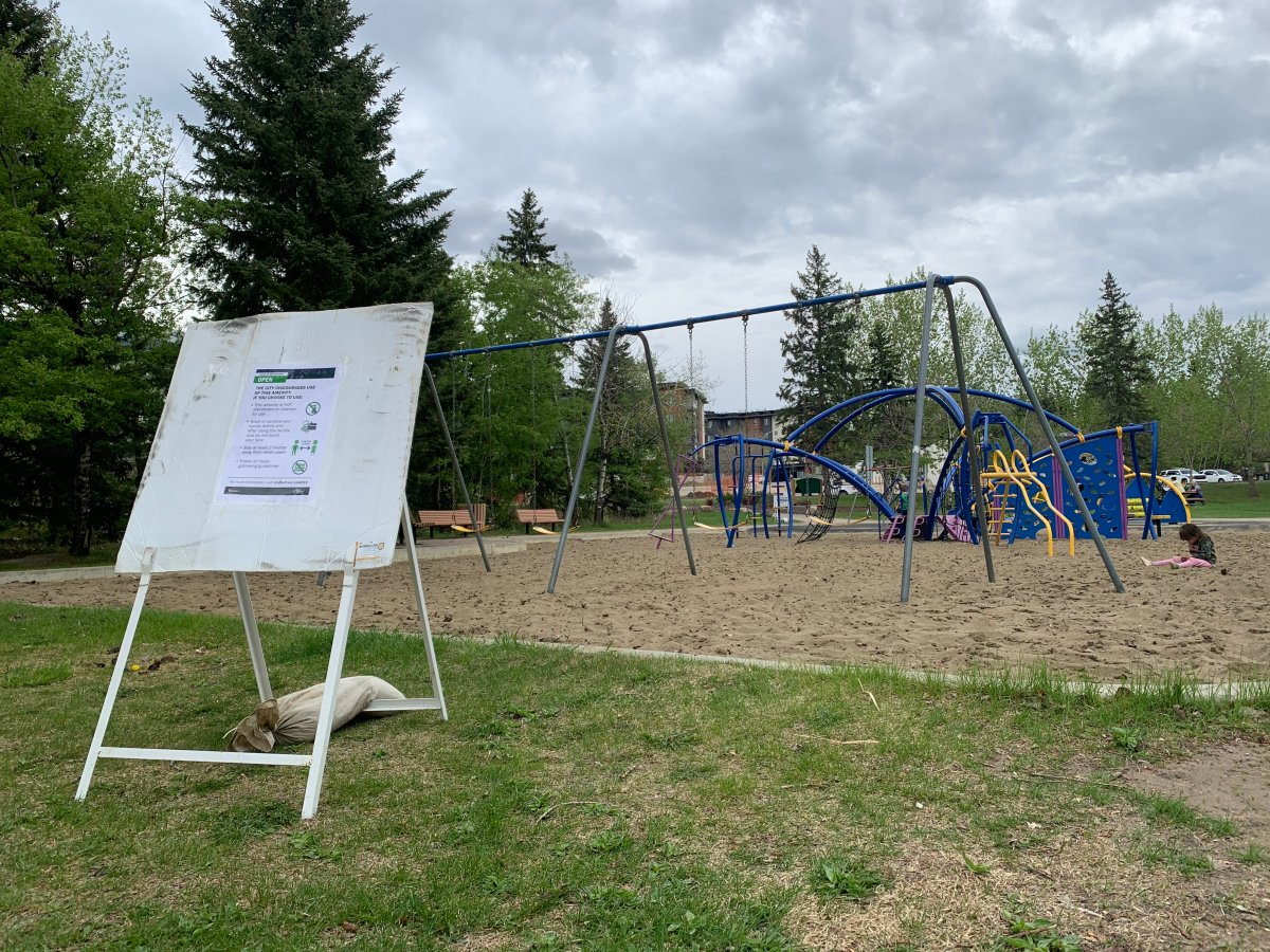 The playgrounds at St. Albert's Lions Park and Rotary Park reopened Wednesday, May 20, 2020.