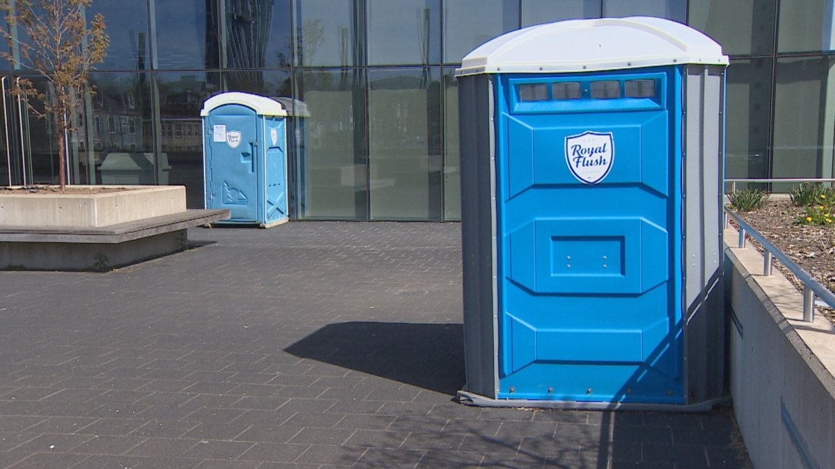HRM installed two portable toilets, with handwashing stations to come, to support those in need of public washrooms during the COVID-19 pandemic.