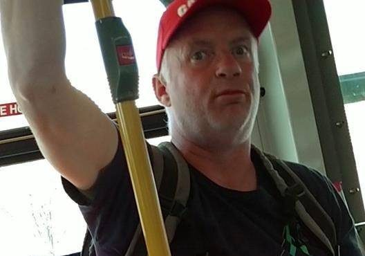 Metro Vancouver Transit Police are asking for the public's help in identifying a man, shown in a handout photo, suspected in a racially motivated attack against a woman. Police say a man who boarded a bus on the Downtown Eastside on April 15 made discriminatory remarks directed at two Asian women who got on wearing masks.