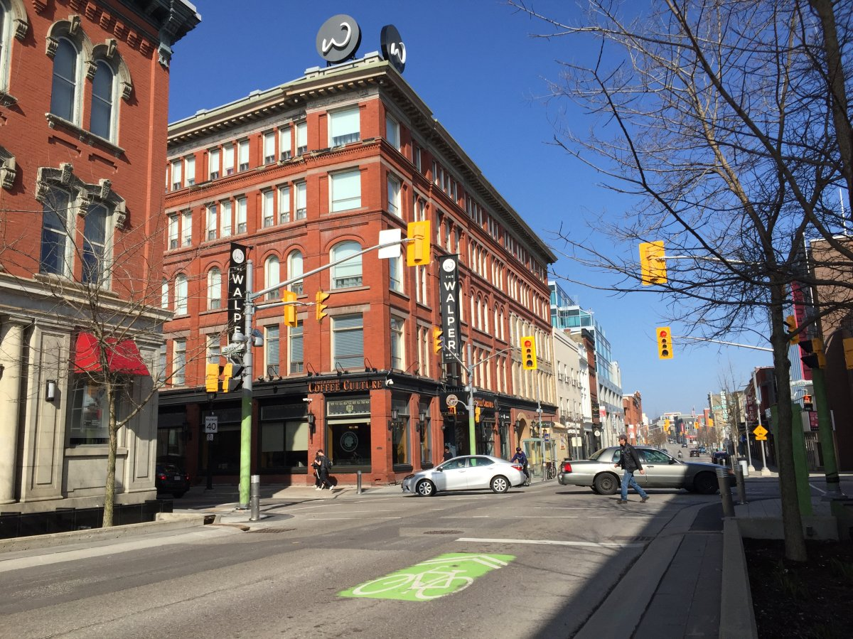 The Walper Hotel can be seen on King Street in downtown Kitchener.