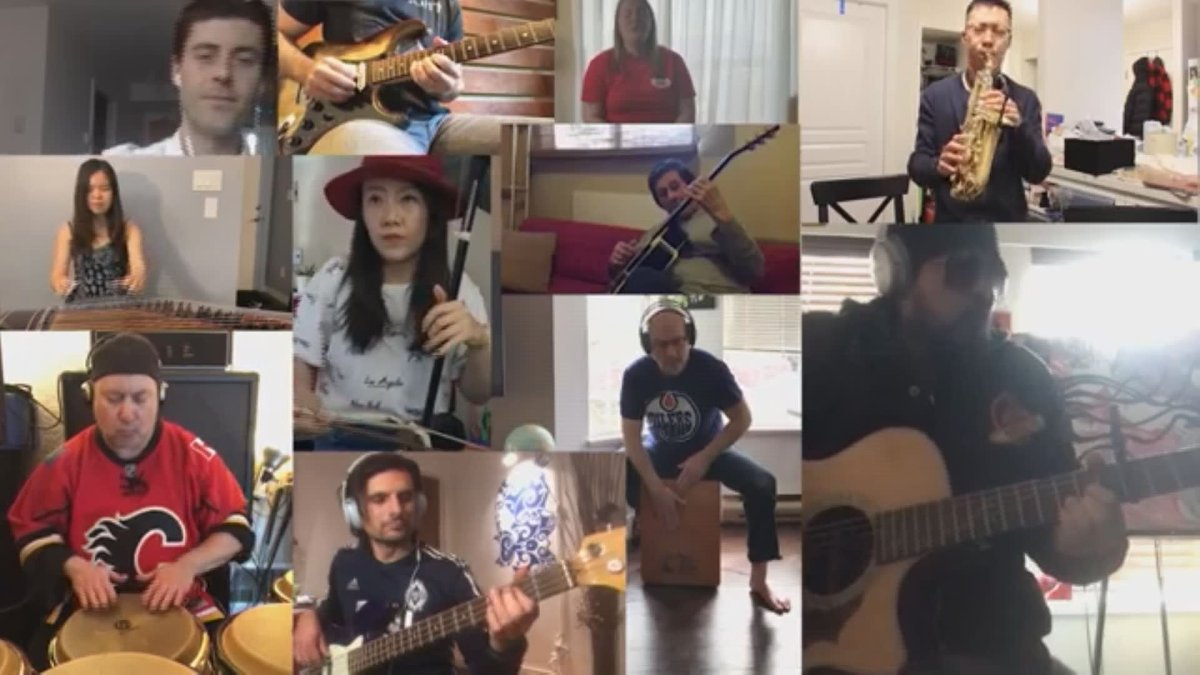 Musicians from across the Lower Mainland came together to make the song possible.
