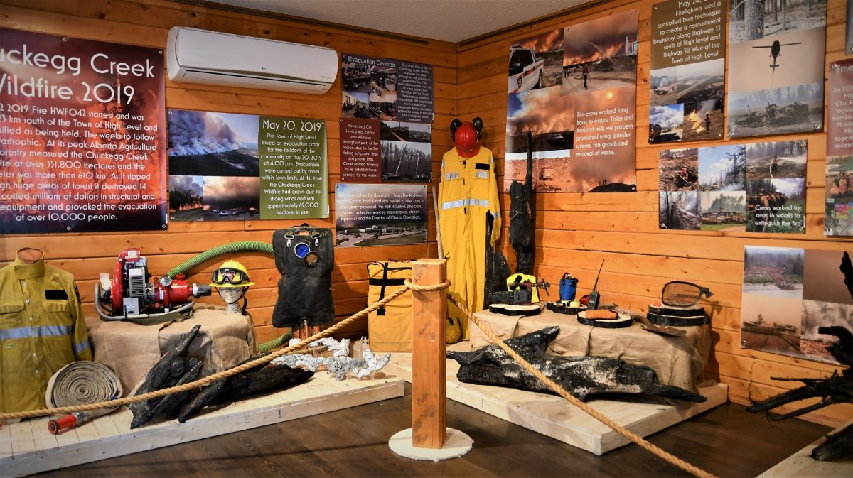 High Level has launched an exhibit to commemorate the 2019 wildfire evacuations in the community.