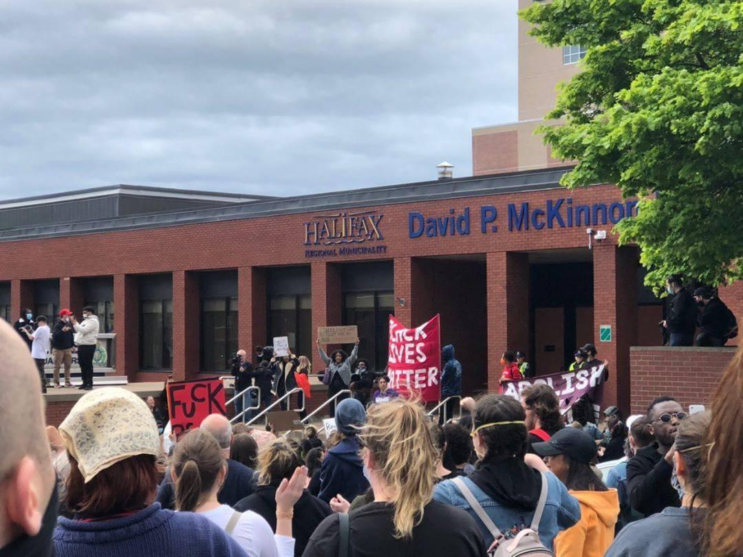 Hundred gathered in Halifax at a Black Lives Matter vigil.