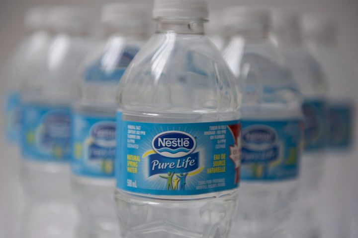 Nestle bottled water is shown in Toronto, Monday, Oct.17, 2016.