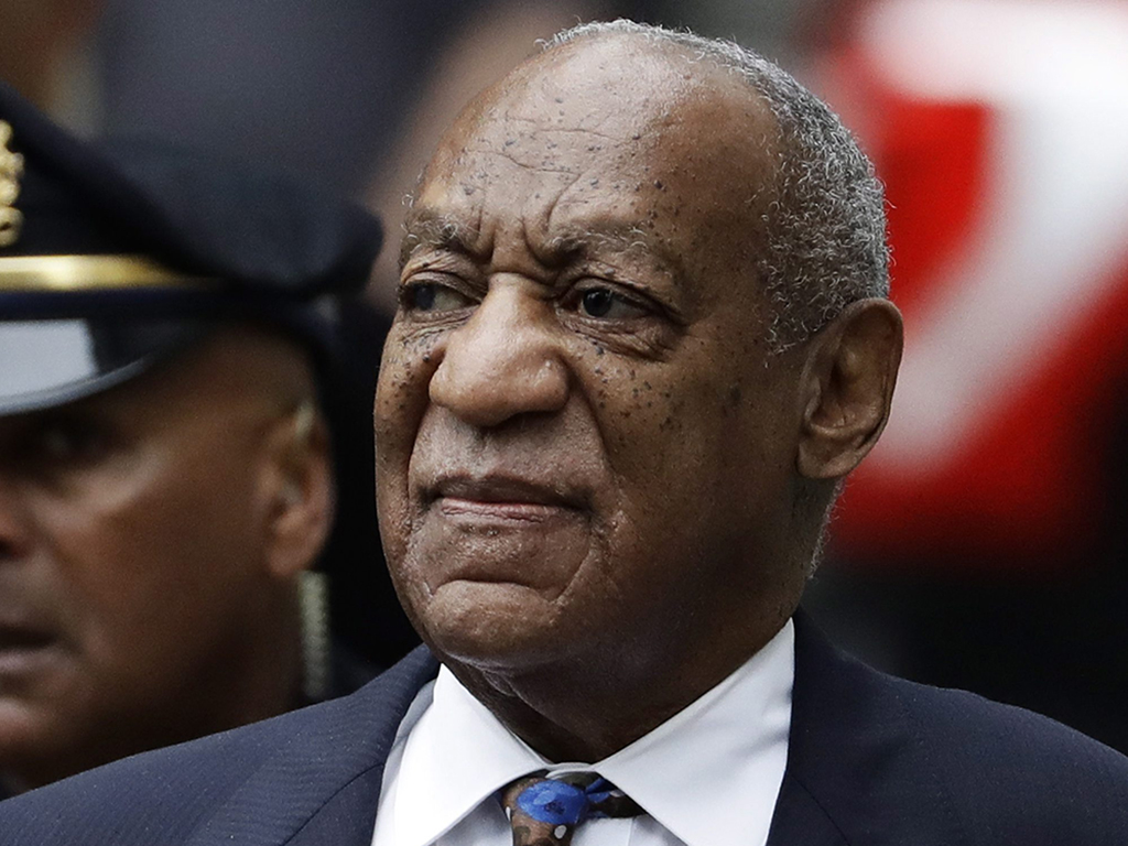 In this Sept. 24, 2018 file photo Bill Cosby arrives for his sentencing hearing at the Montgomery County Courthouse in Norristown, Pa.