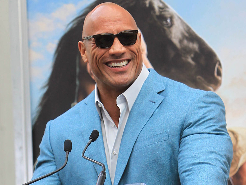 Dwayne Johnson at a Hand and Footprint Ceremony at the TCL Chinese Theatre IMAX in Los Angeles, Calif.