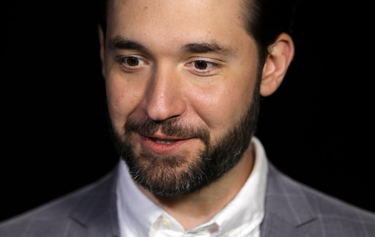 FILE - In this Feb. 19, 2019, file photo, Alexis Ohanian, founder of the social media company Reddit, gives an interview in New York. Ohanian announced on Friday, June 5, 2020, his resignation from the board of the social media site and urged the board to replace him with a black candidate.