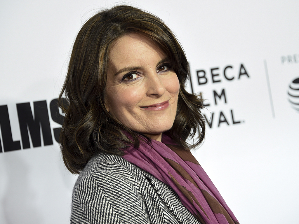 Tina Fey attends the Tribeca Film Festival world premiere of 'Love, Gilda' in New York on April 18, 2018.