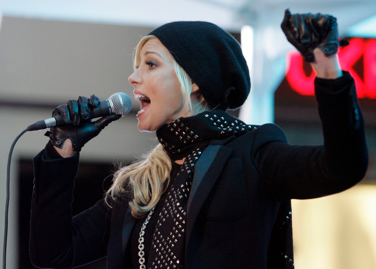 Country singer Faith Hill performs in New York City on Nov. 19, 2007.