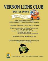 Continue reading: Vernon Lions Club Bottle Drive