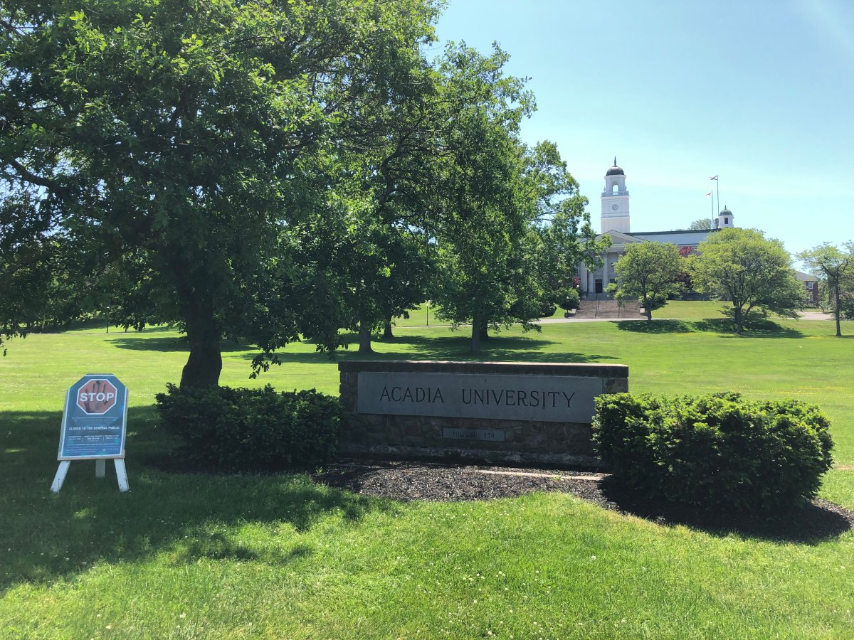 Acadia University's campus in Wolfville, NS.