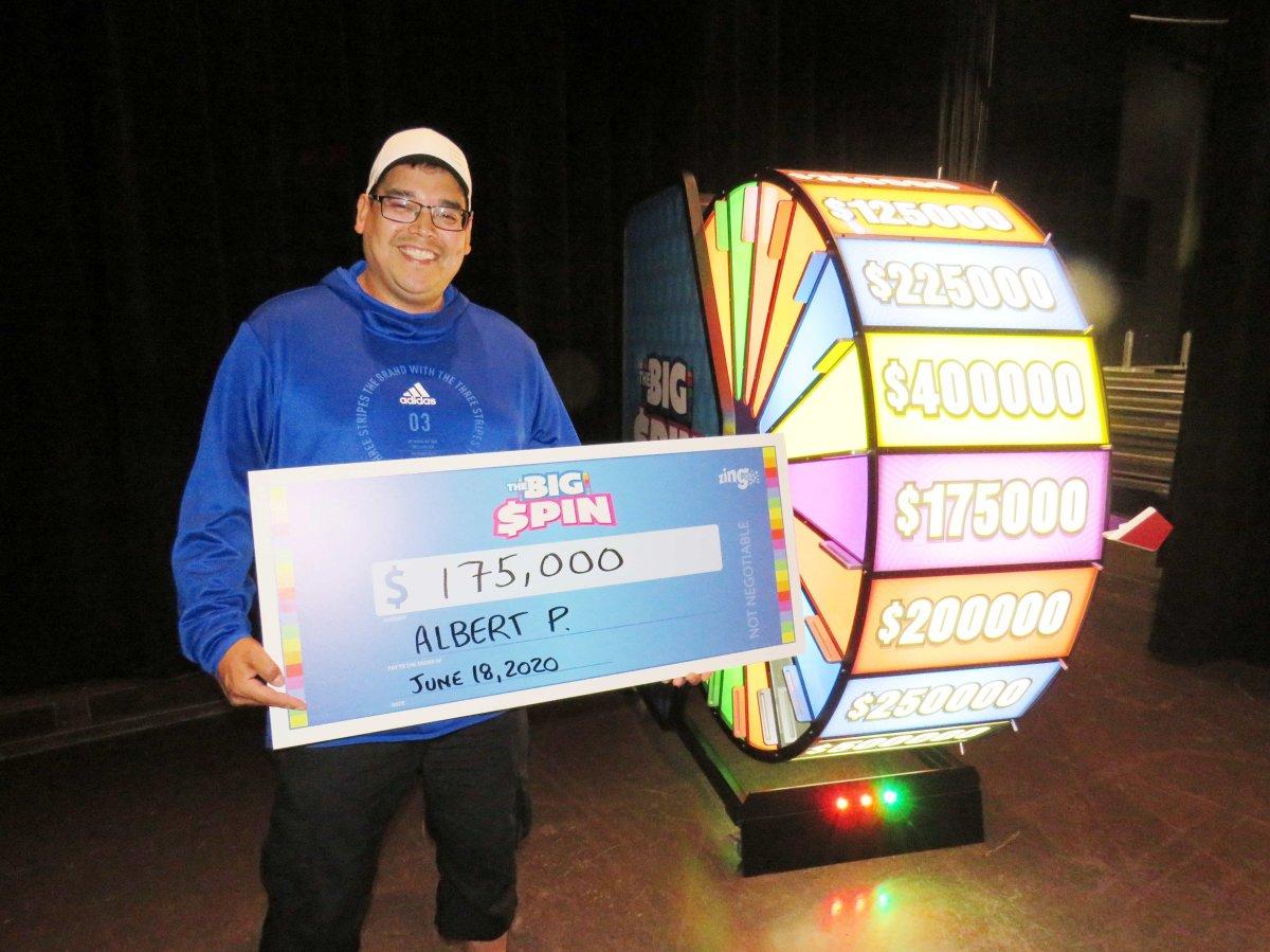Albert Paupanakis was a big winner on the Big Spin.