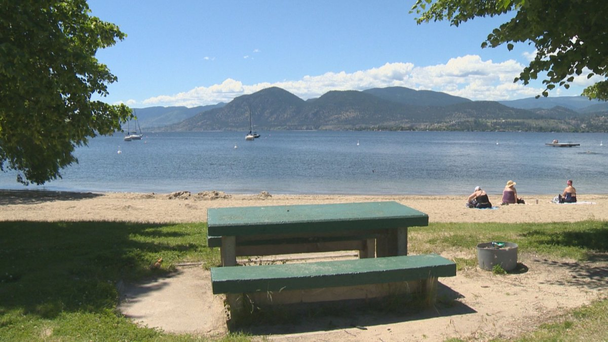 Manitou Beach and Park in Naramata was the scene of a near drowning last Wednesday when a toddler was found floating head down.