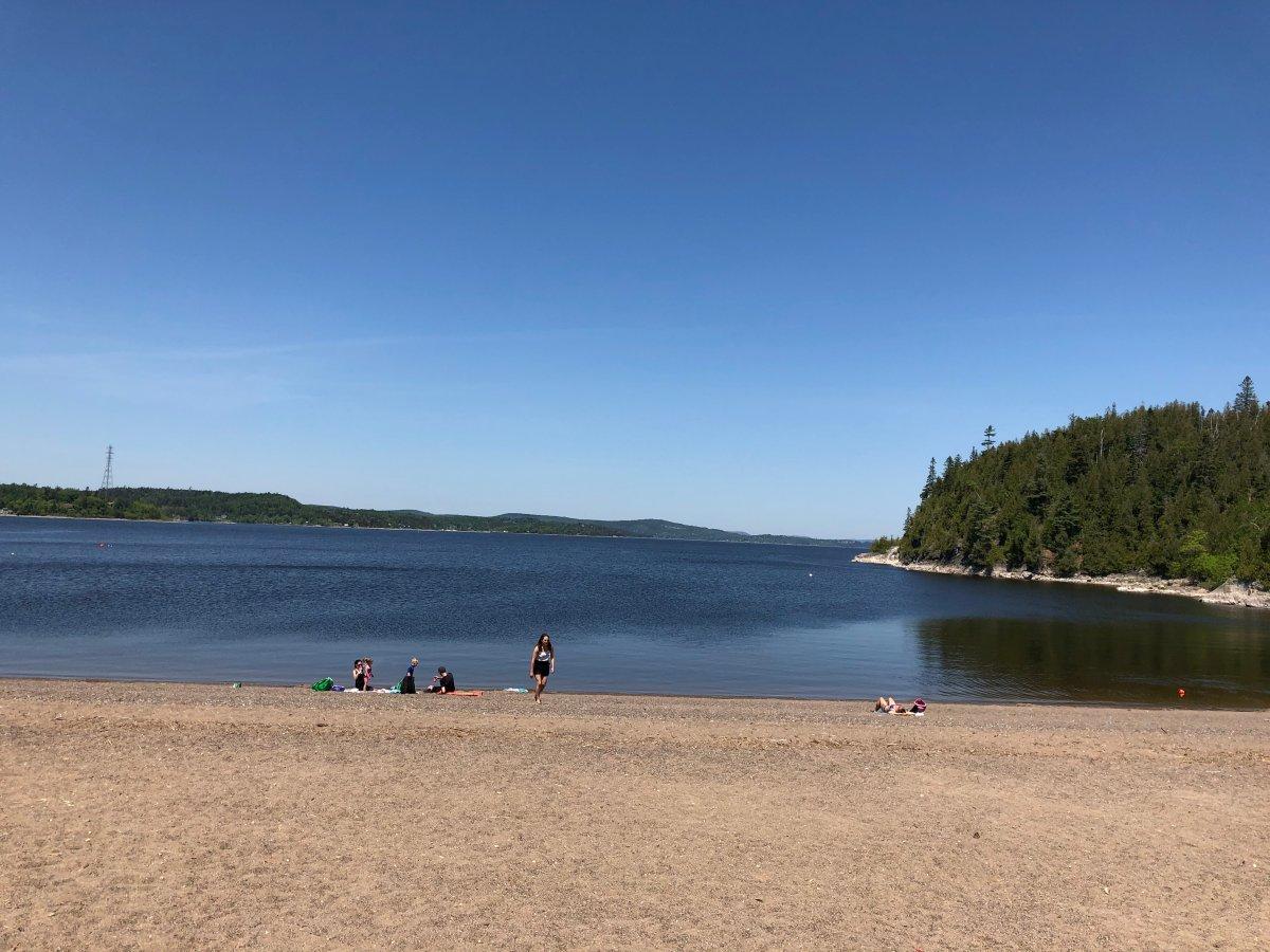 Dominion Park Beach in Saint John, New Brunswick.